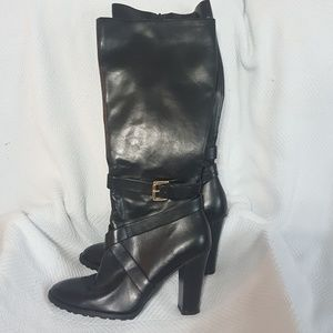 CHAPS Black Side Zip JUDITH Boots Size 9B